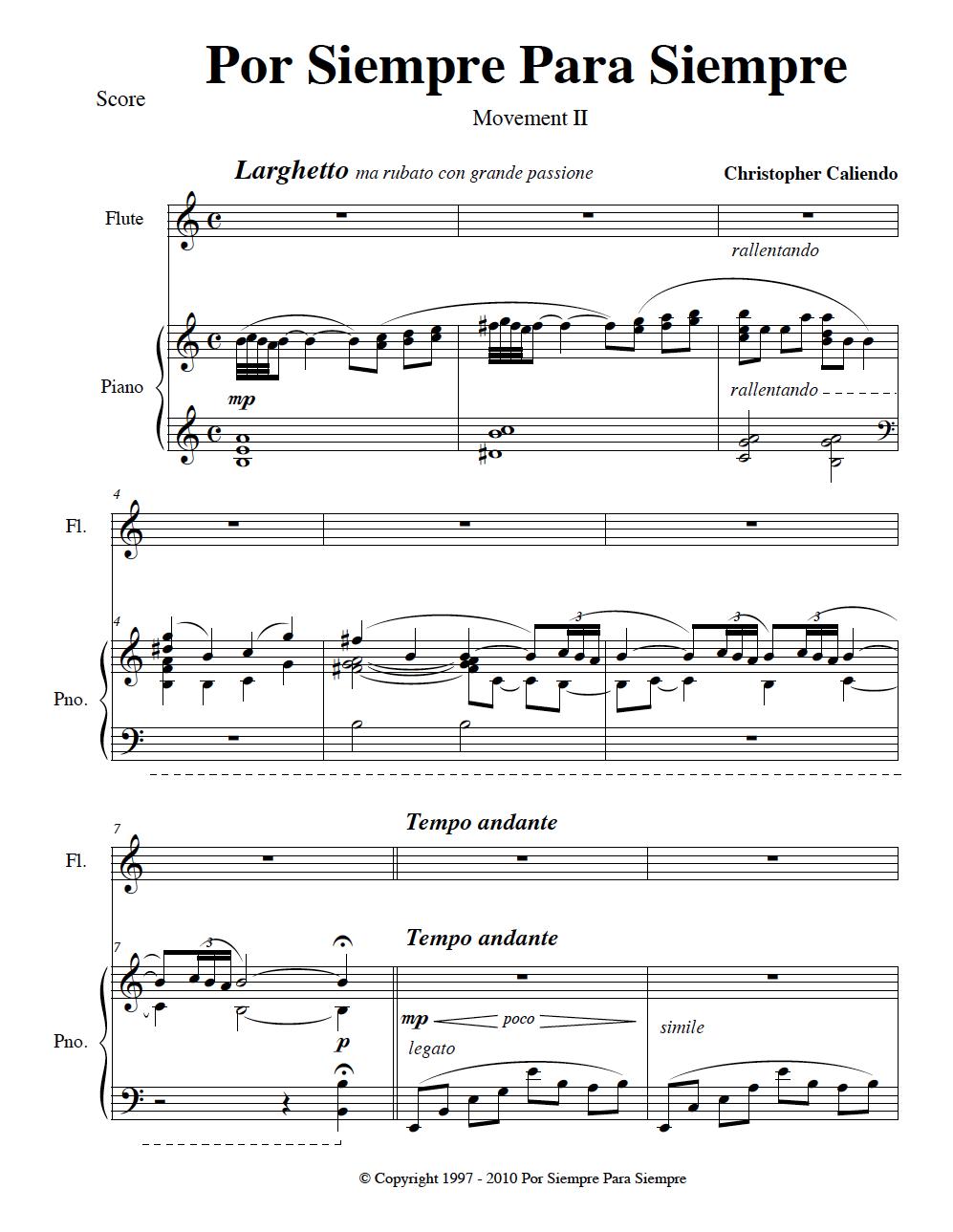 Tango Concerto No. 1 (3 Movements for Flute & Piano