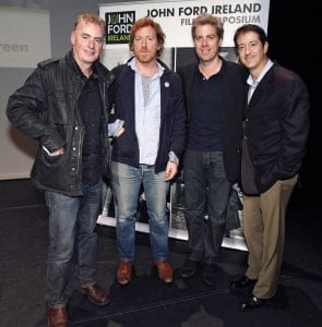 Dave Fanning, David Holmes, Kyle Eastwood & Christopher Caliendo were pictured at the Music For The Screen workshop, at The Project Arts Centre, Dublin, as part of the 1st John Ford Ireland Film Symposium, on 9th  June 2012. www.johnfordireland.org for full programme information and tickets. Copyright Notice:
